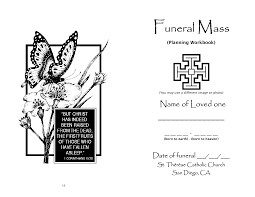 Funeral Bulletin Catholic Funeral Clipart Clip Art Library