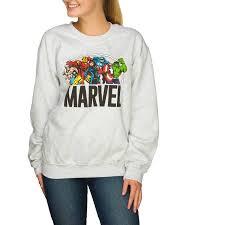 sweater walmart juniors marvel heroes crewneck pullover sweater walmart com