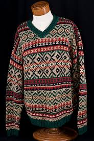 abercrombie fitch fair isle knit sweater jumper sz l ebay