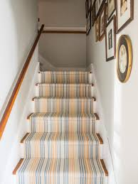 Designs For Runners Upcycle Woven Table Runners Into A Durable Stair Runner Hgtv