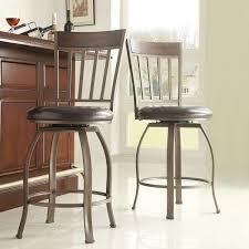 keyaki rustic bronze swivel high back counter height stools set