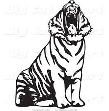 running tiger clipart black and white clipart panda free