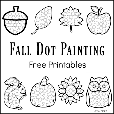 Printable Pumpkin Books For Preschoolers by Fall Dot Painting Free Printables Painting Activities Dot