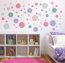 DIY Polka Dot Wall Decor - Polka dot wall decals for kids rooms