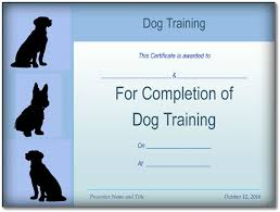 basic dog training certificate template ppt pdf formatssample