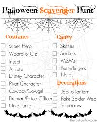halloween scavenger hunt with free printable