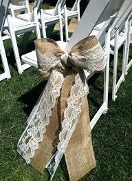Pew Decorations For Wedding Mason Jars Decorated With Burlap And Lace Burlap And Lace Wedding