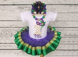 mardi gras ribbon mardi gras birthday tutu set purple green gold masquerade