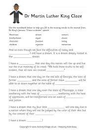 mlk day worksheets