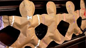 make colorful gingerbread man bunting youtube
