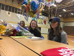 three reed softball players swimmer make college plans official