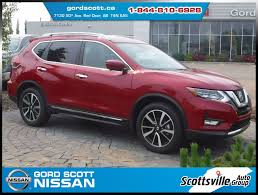 red nissan rogue 2017 nissan rogue sl awd platinum new for sale in red deer