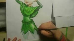 tinkerbell drawing timelapse awesome art