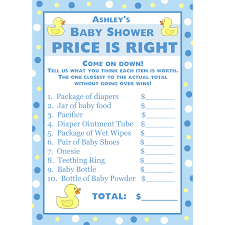 price is right baby shower 24 personalized baby shower price is right cards blue