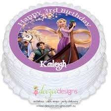 tangled cake topper tangled rapunzel edible icing cake topper pre cut ei046r