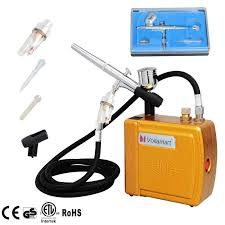 voilamart air brush mini compressor spray airbrush gun kit for