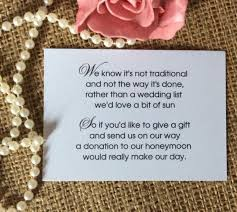 wedding gift quotes for money honeymoon poem for wedding invites