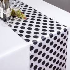 black and white table runners cheap x 108 in polka dot satin table runner white black