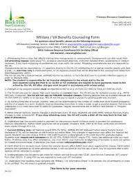military va benefits counseling form