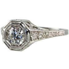bezel set 75ct old european cut diamond ring for sale at 1stdibs