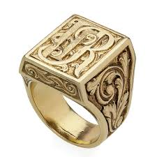 gold monogram ring chicago gold monogram ring jewelers center