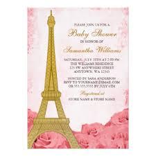 eiffel tower invitations eiffel tower baby shower invitations announcements zazzle