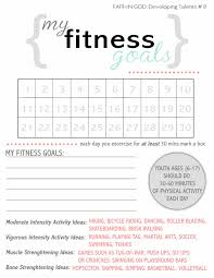 Setting Worksheets The Hill Family Activity Days Fitness