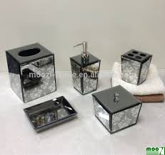 mirrored bathroom accessories mirrored bathroom accessories sets contemporary each piece is a