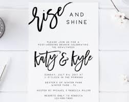 after wedding brunch invitation post wedding brunch invitation printable rise and shine