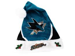 blue santa hat san jose sharks color block santa hat lids
