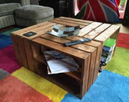 Shipping Crate Coffee Table - wooden crate coffee table a rustic look with lots of storage