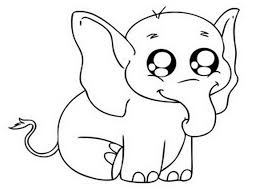 cartoon baby animals with big eyes coloring pages