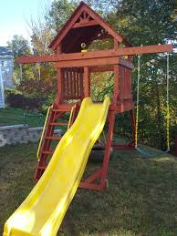 backyard discovery prescott cedar wooden swing set pics with