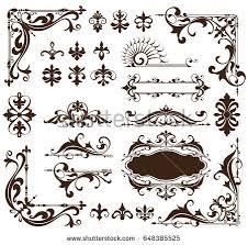 vector ornaments frames corners borders stock vector 403228891