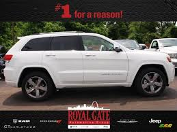 white jeep 2014 2014 bright white jeep grand cherokee overland 4x4 81870219