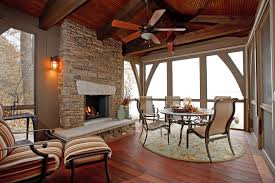 glorious brass fireplace screen porch with high ceiling