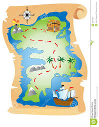 Treasure Map Clipart Pirate Treasure Map Stock Vector Image 52201879