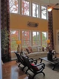 Two Story Drapes Houzz - Family room drapes