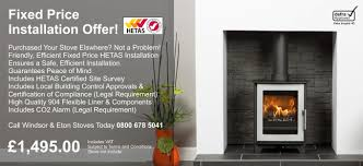 wood burning stove installer fixed price hetas stove installation