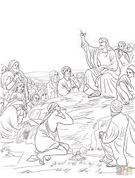 the sermon on the mount coloring page bible story coloring pages