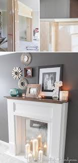 faux fireplace ideas and projects decorating your small space
