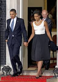 obama dresses knee length satin obama black and white dress