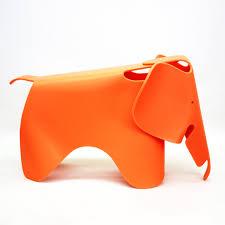 orange colour design elephant chair for room on kids house