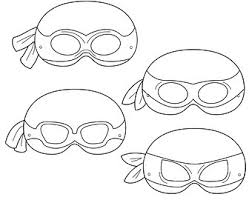 ninja turtle mask etsy ninja turtle mask template