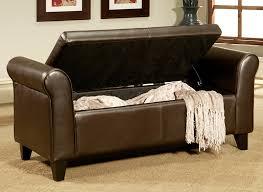 Bench Ottoman With Storage Bench Design Marvellous Leather Ottoman Storage Bench Leather