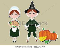vector clipart of thanksgiving pilgrims csp7343760 search