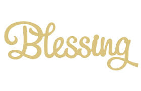 Blessings Home Decor by Word Blessings Style 1 Unfinished Mdf Wood Cutout Variety Of Sizes