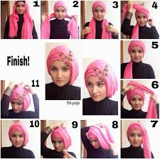 tutorial hijab turban untuk santai mix and match hijab google search tutorial hijab pinterest