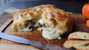baked stuffed brie with cranberries walnuts recipe allrecipes
