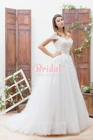 wedding dress the shoulder white lace and tulle the shoulder basque waist princess